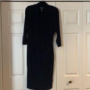 Lauren Ralph Lauren Navy Long Sleeve Dress